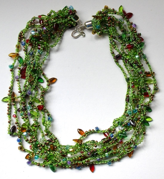 Bead Crochet Instructions : BEAD CROCHET INSTRUCTIONS NECKLACE - Crochet - Learn How to Crochet